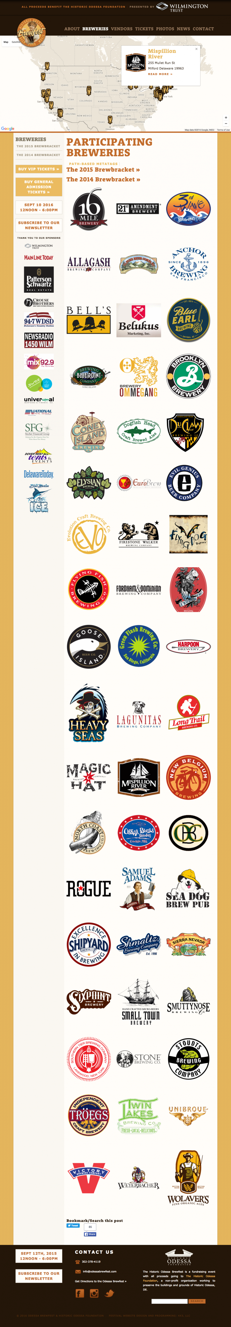 Brewfest Featured Breweries landing page