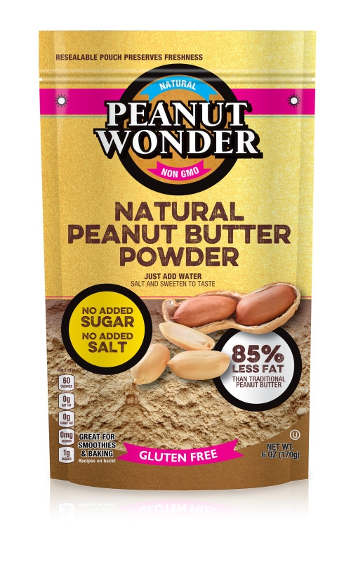just add water and salt to taste for a low calorie, low fat peanut butter spread