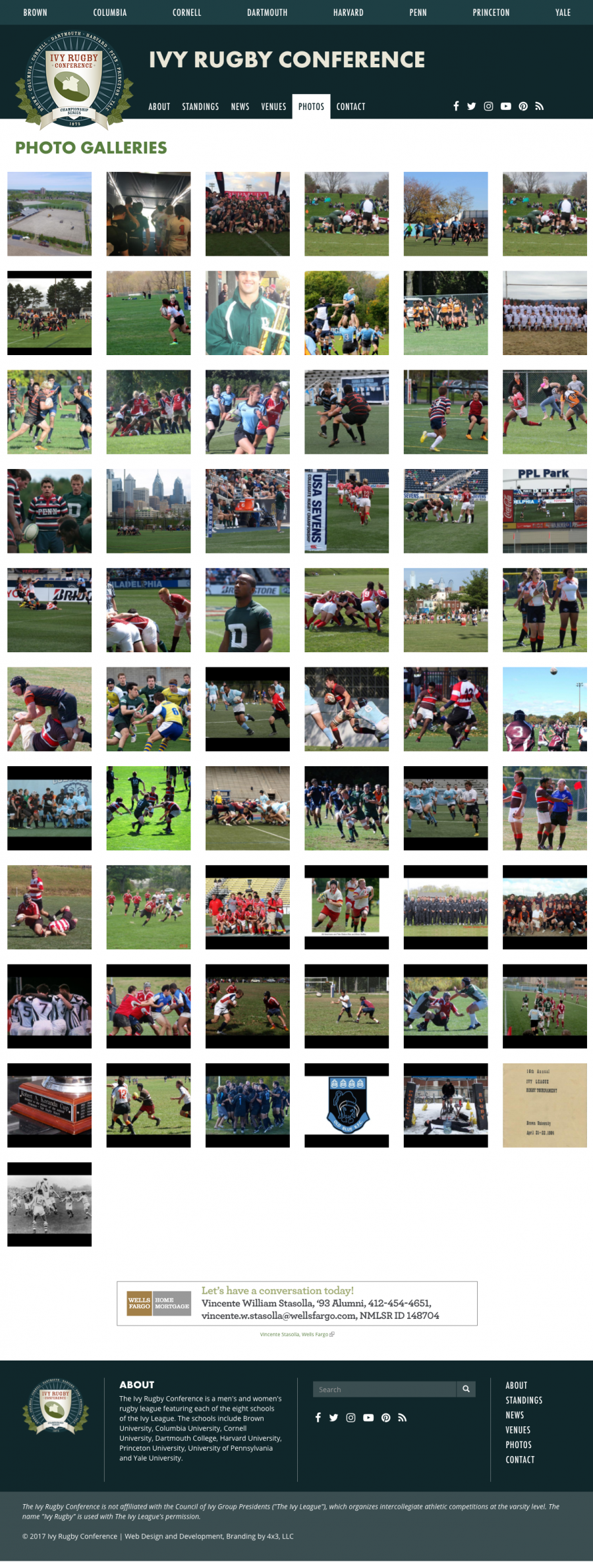 Ivy Rugby Conference Website