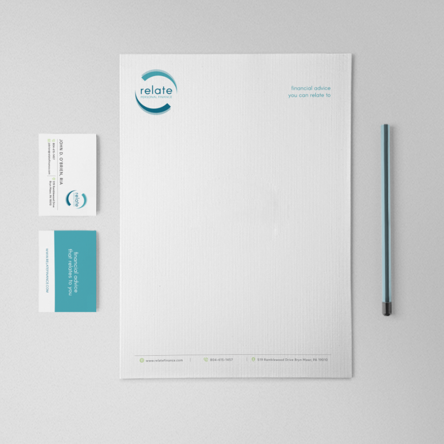 Relate Personal Finance Stationery & Business Cards