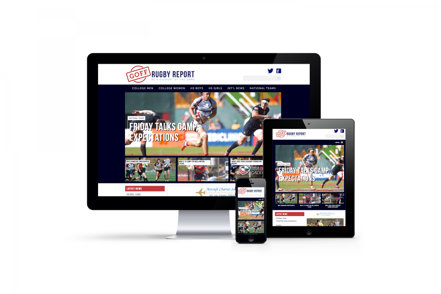 Goff Rugby Report, Fully Responsive Website