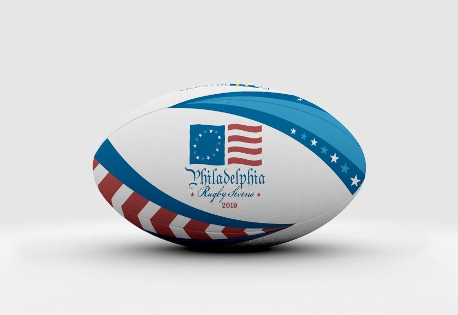Philly 7s Rugby Tournament: Custom Rugby Ball