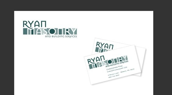 full stationery package designed by 4x3, LLC for Ryan Masonry