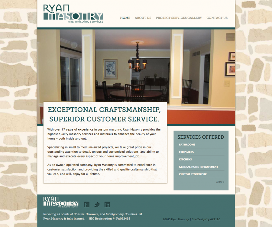 Ryan Masonry Home Page