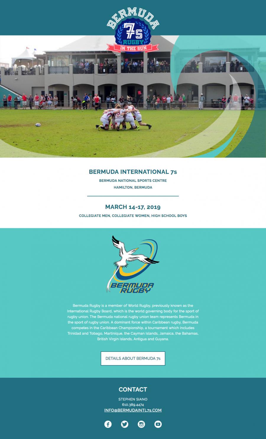 Bermuda International 7s Rugby Website Homepage