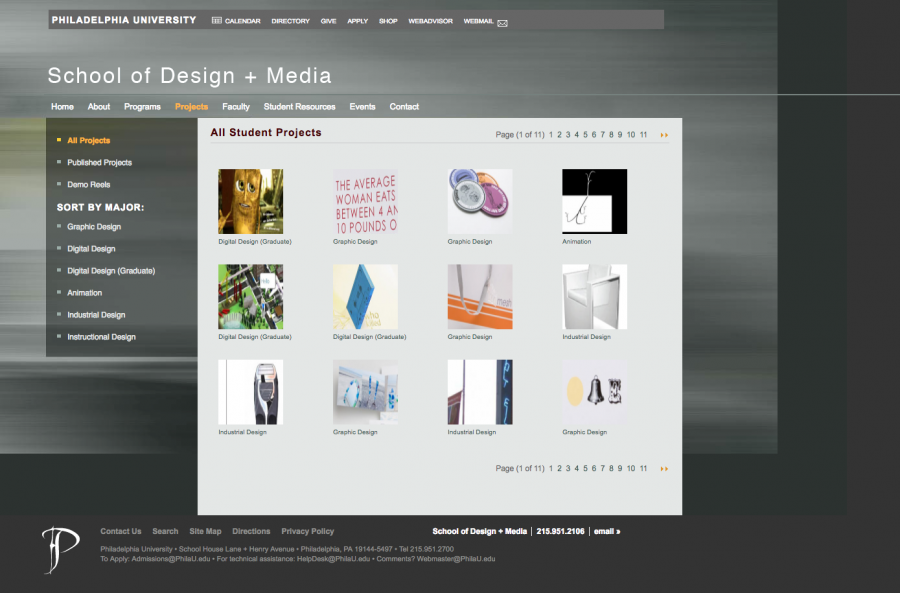 School of Architecture and School of Design + Media Student Artwork