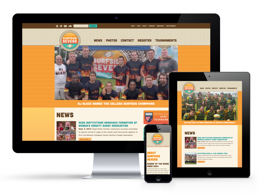 Surfside Sevens responsive design
