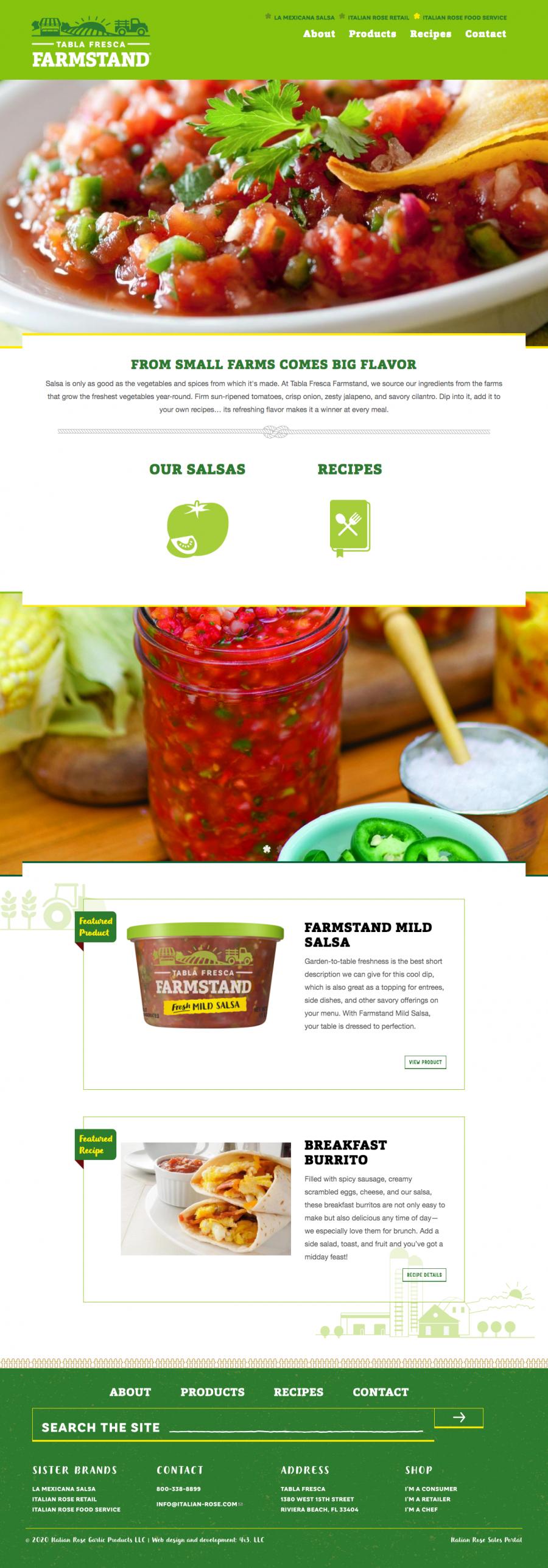 Tabla Fresca Farmstand homepage