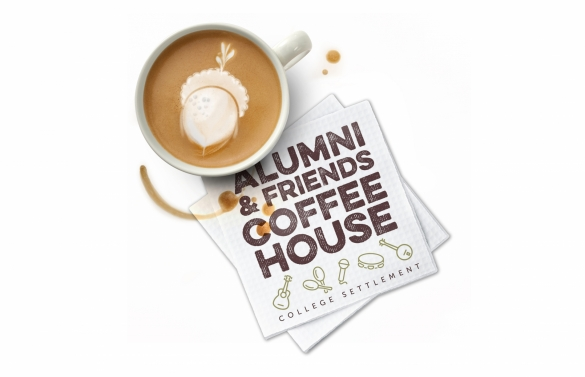 Alumni & Friends Coffee House event promotion