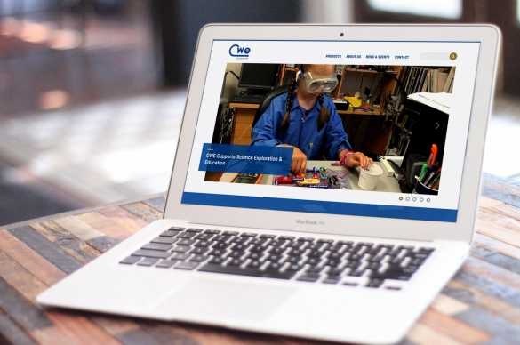 CWE Website Organized, Content-Rich on Laptop