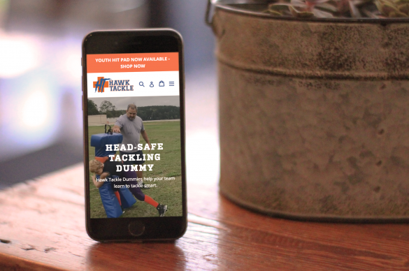 Hawk Tackle mobile homepage