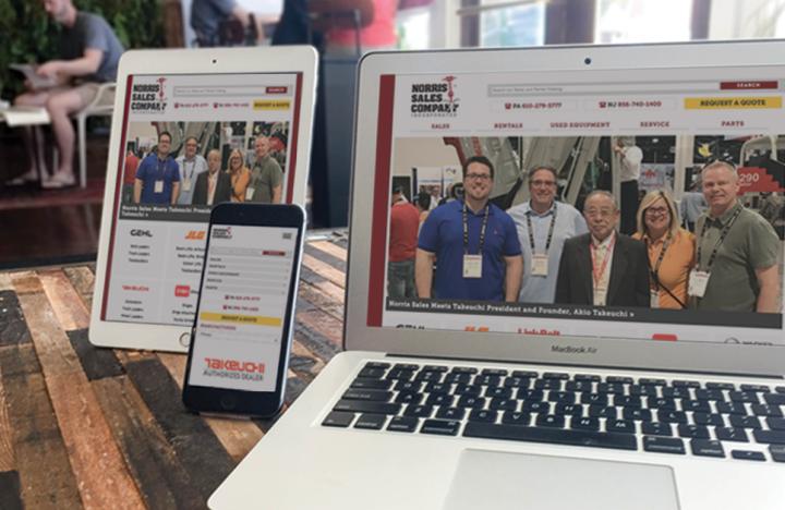 Norris Sales Responsive Web Design on iPhone, iPad, Laptop