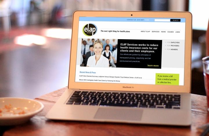 ELAP Homepage, featuring recent news, navigation menu, search bar