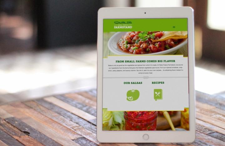 Tabla Fresca Farmstand website on iPad