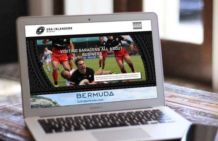 USA Islanders Website on MacBook