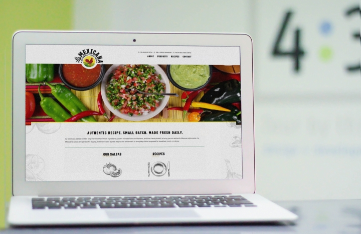 La Mexicana website on laptop