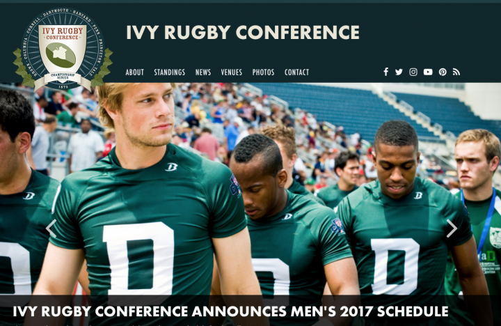 Ivy Rugby Full Responsive Website for Rugby Conferences