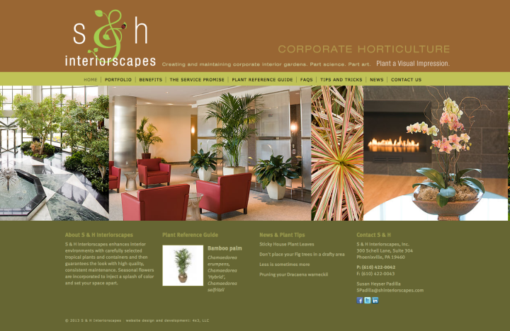 S&H Interiorscapes HomePage